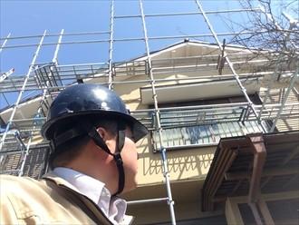 横浜市中区強風により落下した巴瓦の設置工事を行いました