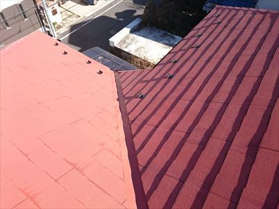 横浜市鶴見区|リフォーム会社からのご依頼でスレート屋根に雪止め設置工事