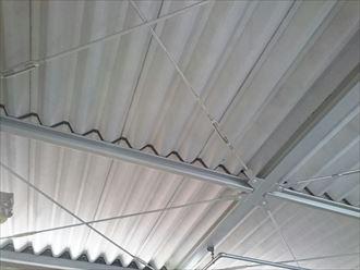 折板屋根,撤去