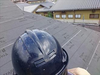 横浜市港南区でスレート屋根からアスファルトシングルへ葺替え工事