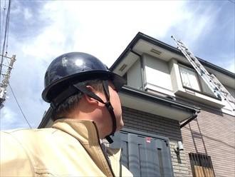 横浜市中区スレートが黒くなってきたことで屋根調査のご依頼