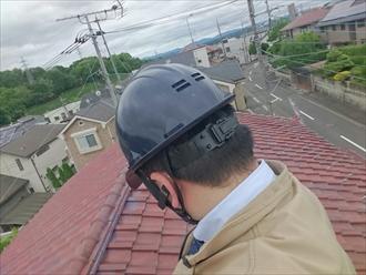 横浜市瀬谷区で瓦屋根の歪んだ部分を直します
