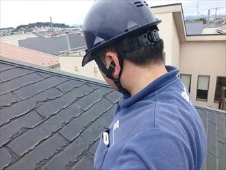 横浜市神奈川区でパミールが葺いてある屋根の調査