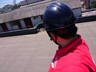 横浜市磯子区で屋上の排水口回りからの雨漏り