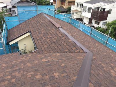 横浜市金沢区|パミールからシングル材アルマへの屋根カバー工法で屋根改善!