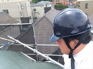 横浜市神奈川区工事中のお隣様より屋根のご相談