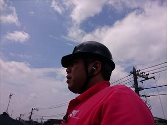 横浜市都筑区で崩れそうな瓦屋根の棟を積み直します