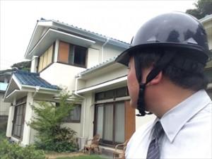 横浜市金沢区瓦屋根のお宅で瓦の固定が弱くなり雨漏り発生