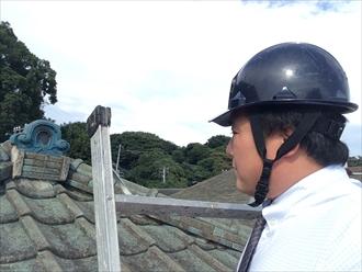 横浜市栄区メンテナンスを行っていない31年目のセメント瓦