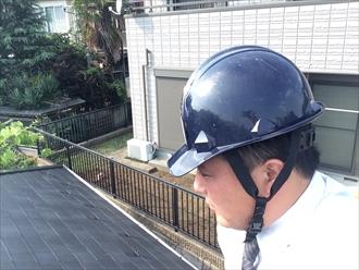 横浜市神奈川区台風シーズン前に棟板金の飛散を防ぐ