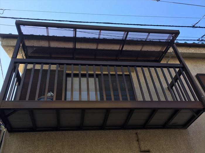 テラス屋根の修理完成