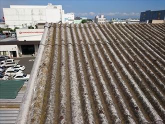 大波スレートの屋根
