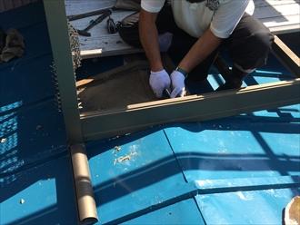 アルミ製の後付バルコニーが乗った屋根も工事は可能です|横浜市港南区