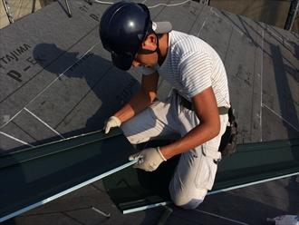 横浜市南区スーパーガルテクトを使用した屋根カバー工事①