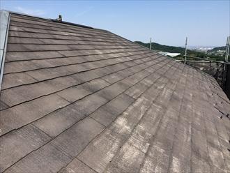 スレート屋根洗浄後