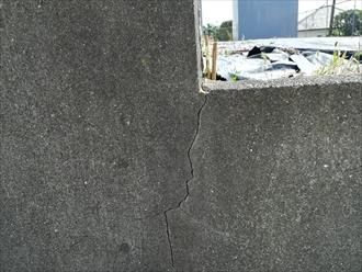 擁壁のひび割れ