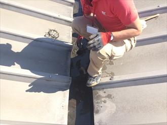 屋根の上に慣れてるからお役に立てます!工場屋根の樋清掃|横浜市鶴見区