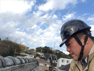 漆喰が劣化すると風だけで剥がれ落ちます|横浜市保土ヶ谷区