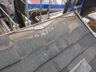 風の被害で割れた化粧スレートを交換します|横浜市磯子区