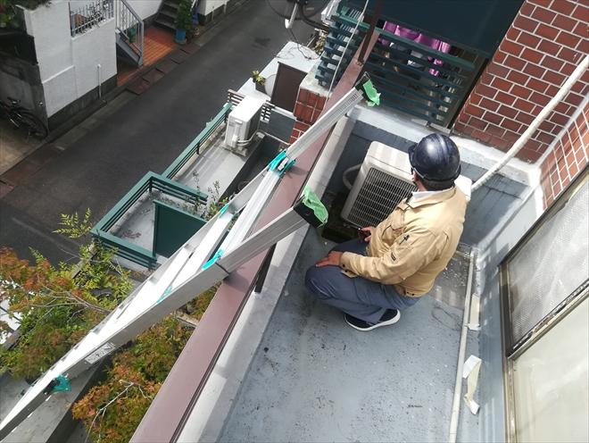 横浜市神奈川区|バルコニーからの雨漏り、原因は排水口まわりでした