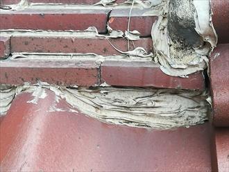 横浜市保土ヶ谷区|瓦屋根からの雨漏り、部分的な葺き直し