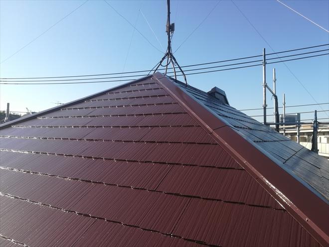 横浜市港北区|屋根塗装工事が無事完了しました