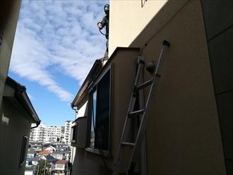 横浜市神奈川区|散水試験で出窓からの雨漏りを確認