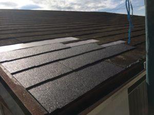 屋根一部飛散-部分補修