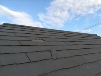 破損した屋根材