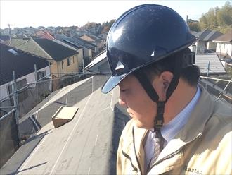 セメント瓦の葺き替え工事でエコグラーニを設置します|横浜市南区