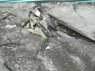 陸屋根の劣化状況