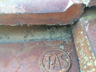 通常の粘土瓦に見えて製造されていないセメント瓦でした|横浜市青葉区
