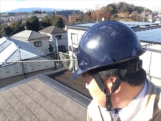 突風による棟板金の飛散で新しく交換します|横浜市鶴見区