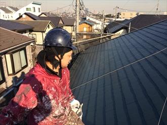 ファインパーフェクトベストで化粧スレートを屋根塗装|横浜市旭区