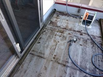 雨漏りの原因になっているバルコニーの防水を直す|横浜市都筑区