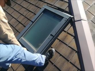 屋根の上からの天窓の様子