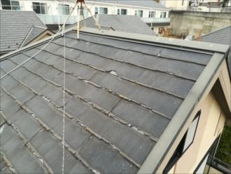 塗装は出来ない屋根材(状況)