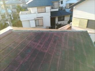 屋根表面の劣化状況