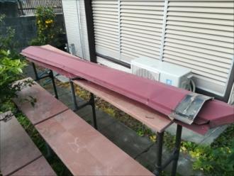 横浜市神奈川区|海外から帰宅したら棟板金が飛散していた