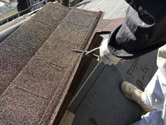 化粧スレートにディプロマットで屋根カバー工事|横浜市金沢区