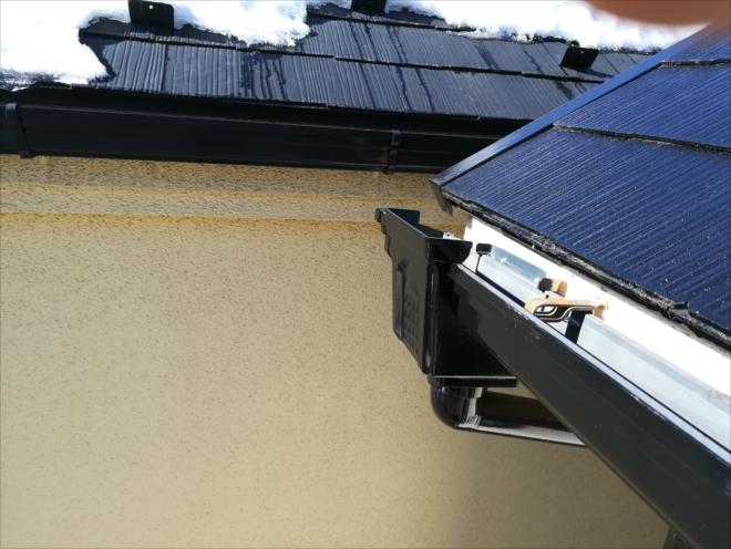 川崎市中原区|雨樋支持具の劣化、歪みからの水漏れ