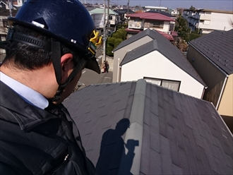 スレート屋根を塗装するかカバー工事をするか判断します|川崎市多摩区