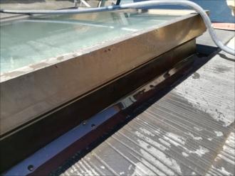窓枠周りへの散水試験