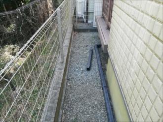 横浜市栄区|雨樋の部分交換と外壁亀裂補修