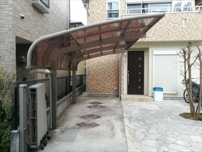 横浜市港北区|カーポート屋根の交換工事を行いました