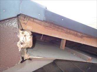 破風板部分的切断