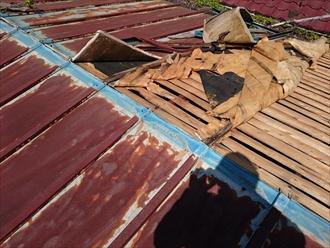 川崎市多摩区で強風でめくれ上がった屋根修理をおこないます