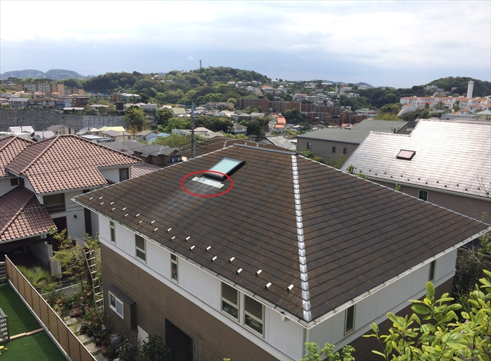 トップライト 屋根修理1