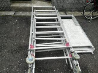 横浜市戸塚区|トップライト撤去・内装復旧工事の為の作業用足場