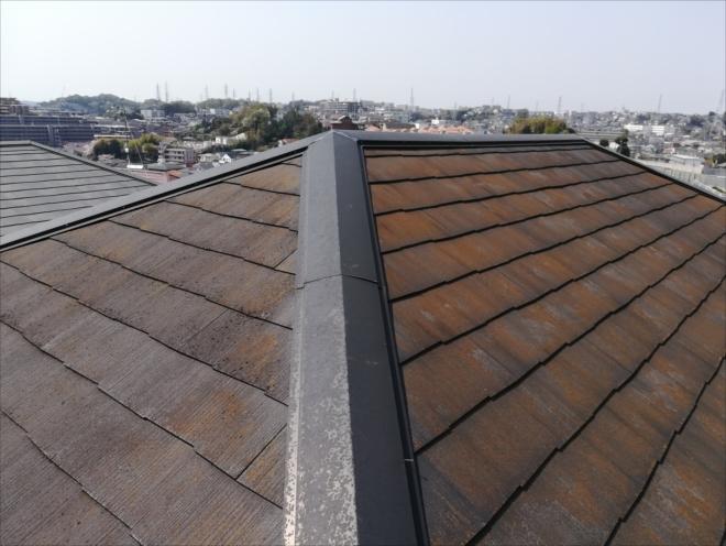 横浜市戸塚区|屋根材の劣化、色褪せ、棟板金の浮き・塗装の為の調査